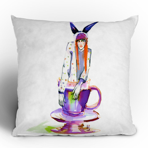 Marta Spendowska Rabbit Hole Throw Pillow