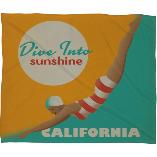 Anderson Design Group Dive California Fleece Throw Blanket