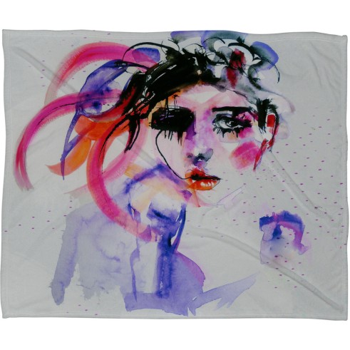 Marta Spendowska Beauty 2 Fleece Throw Blanket