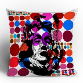 Randi Antonsen Poster Heroins 6 Throw Pillow