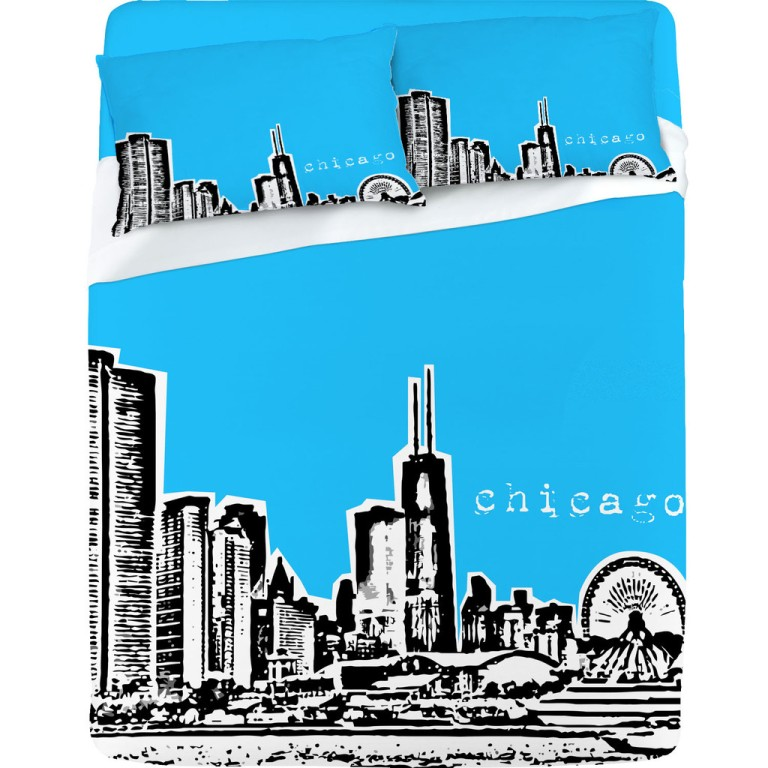 Bird Ave Chicago Blue Sheet Set
