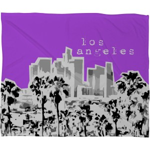 Bird Ave Los Angeles Purple Fleece Throw Blanket