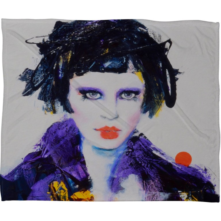 Lana Greben China Doll Fleece Throw Blanket