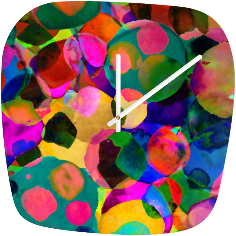 Amy Sia Rainbow Spot Modern Wall Clock