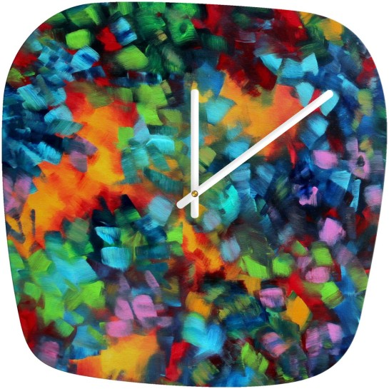 Madart Inc Color Blast Modern Wall Clock