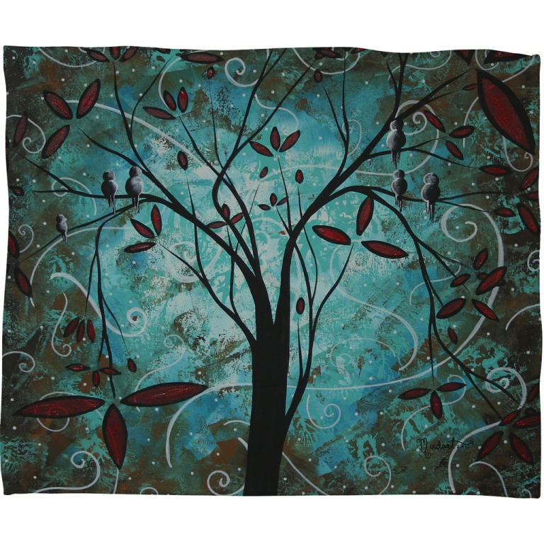 Madart Inc Romantic Evening Fleece Throw Blanket