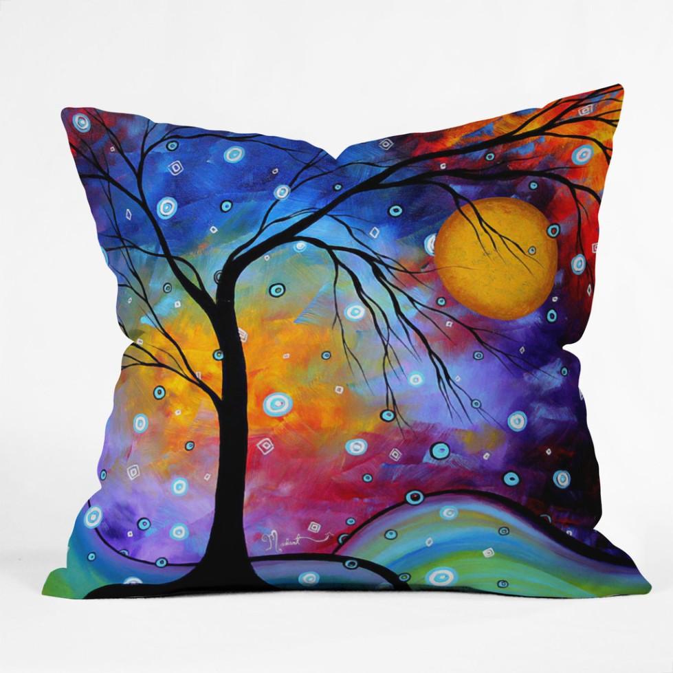 Madart Inc Winter Sparkle Throw Pillow