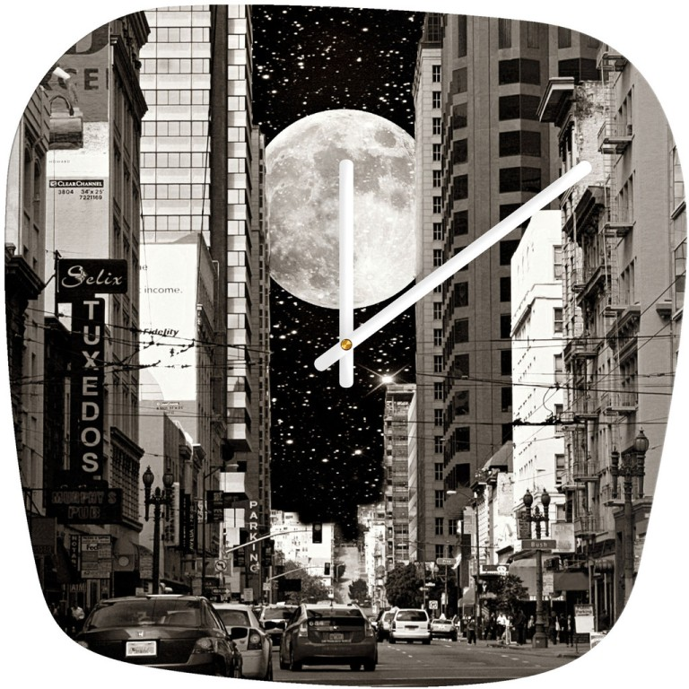 Shannon Clark Night On The Town Modern Wall Clock