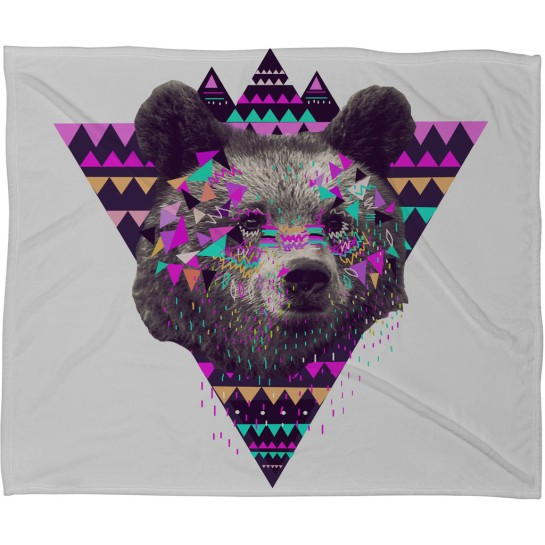 Kris Tate Piniata Bear Fleece Throw Blanket