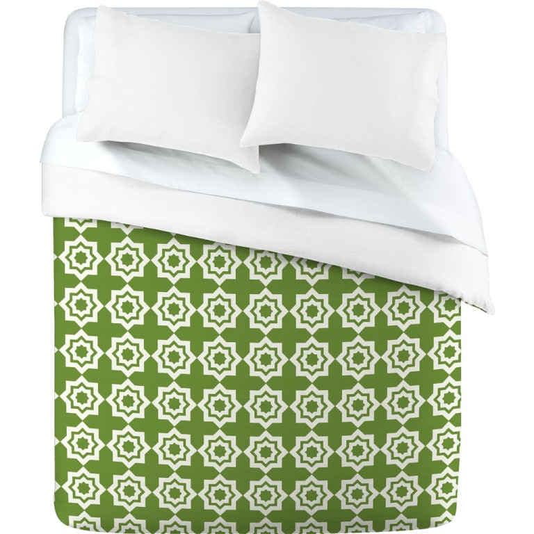 Khristian A Howell Moroccan Mirage Green Duvet Cover