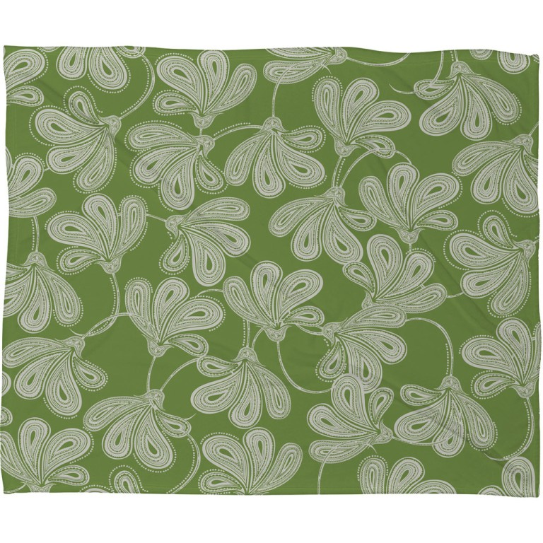 Khristian A Howell Provencal Thyme Fleece Throw Blanket