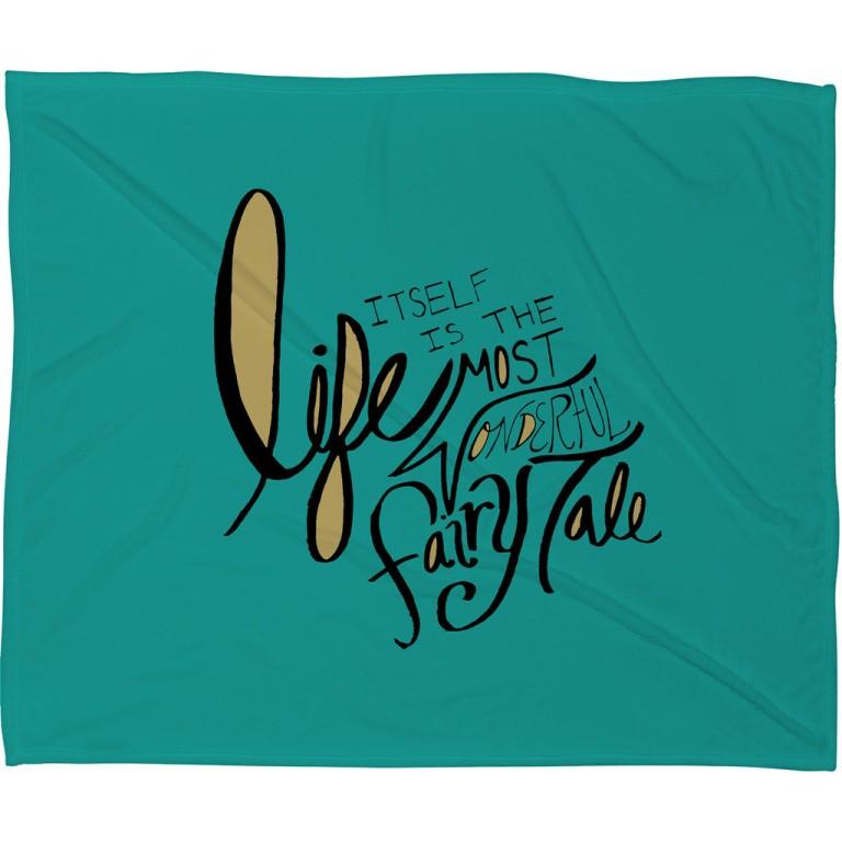 Leah Flores Fairy Tale Fleece Throw Blanket