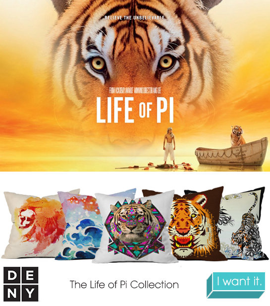 Life of Pi | 2013 Oscar Nominations Inspire DENY Designs