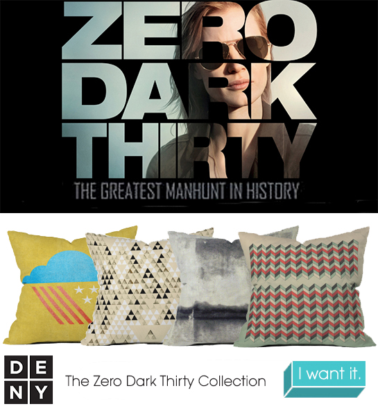 Zero Dark Thirty | 2013 Oscar Nominations Inspire DENY Designs
