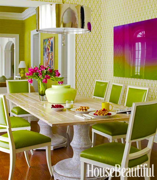 Lime and Mulberry Dining Inspiration | Daily Digs