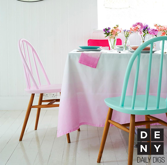 Pastel Ombre Decor - Daily Digs