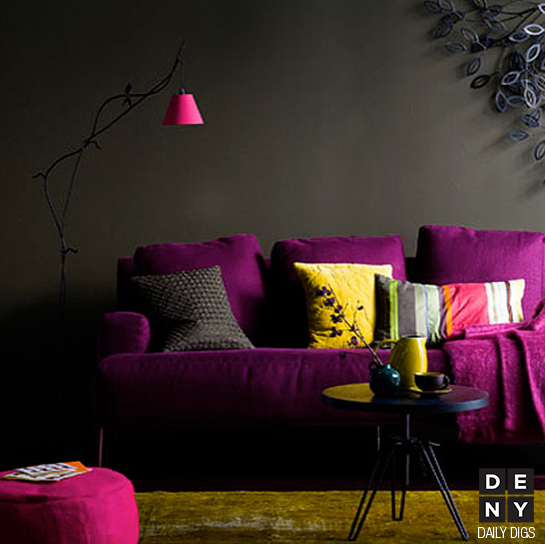 Eggplant Purple and Slate Decor - Daily Digs