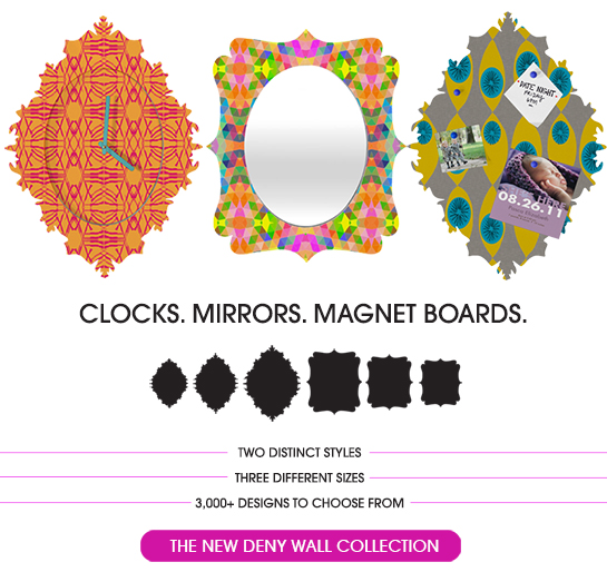 Clocks. Mirrors. Magnet Boards. Your walls will thank us.