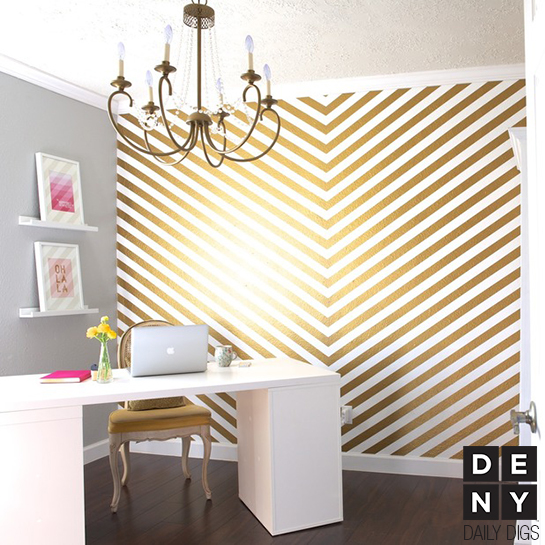 Golden Glam Office | Daily Digs