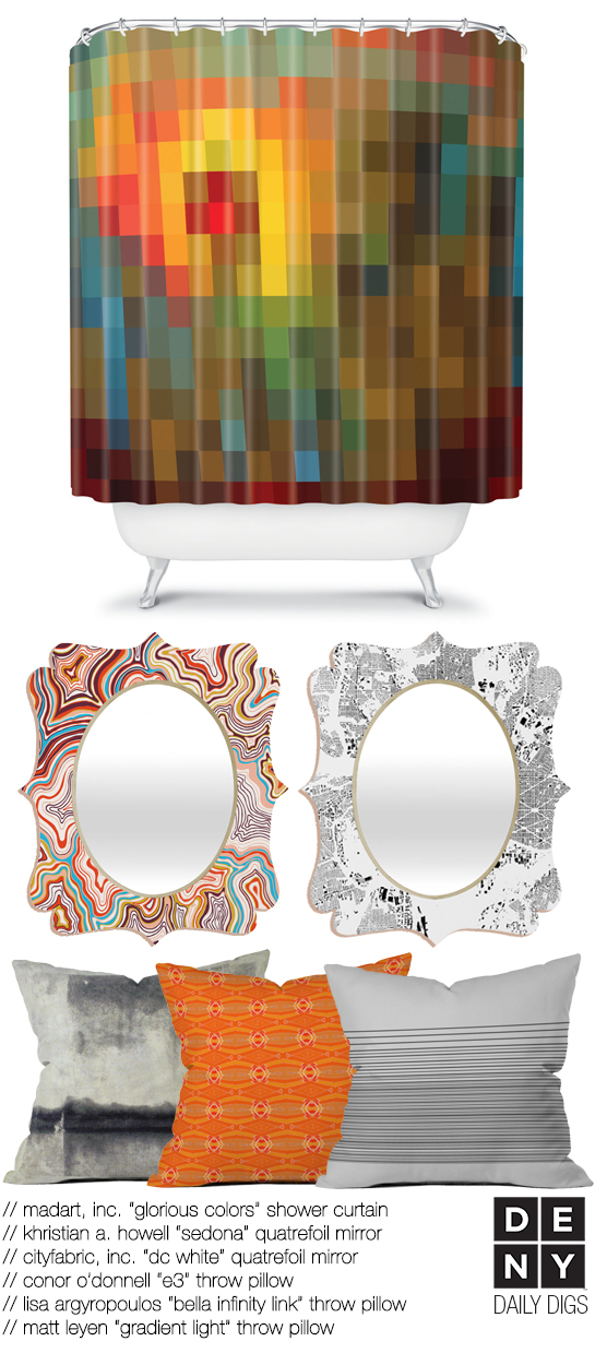 Pixelated Bathroom Decor | Daily Digs