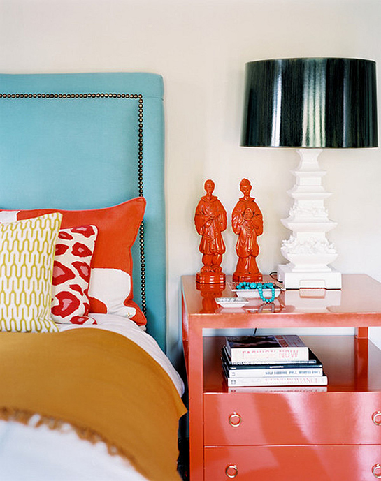 Cool Blue and Tangerine Color Combo | Daily Digs
