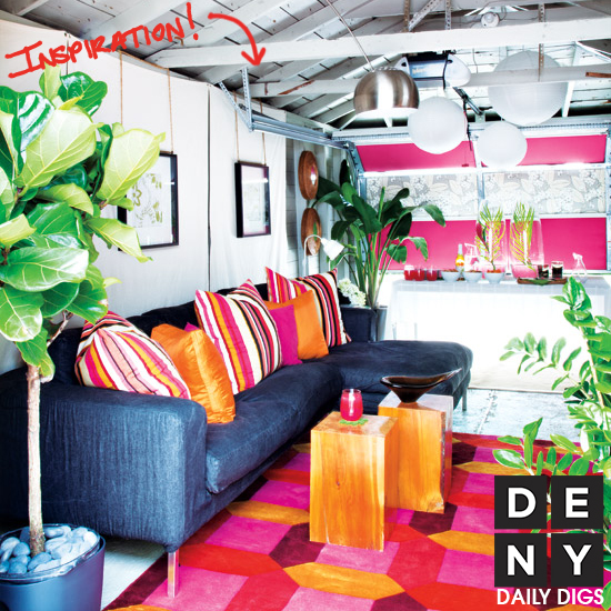 Citrus Colored Garage Makeover | Daily Digs