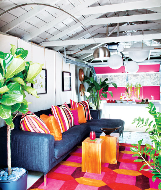 Citrus Colored Garage Makeover   Daily Digs