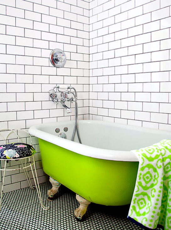 Lime Green Bathroom Accents | Daily Digs