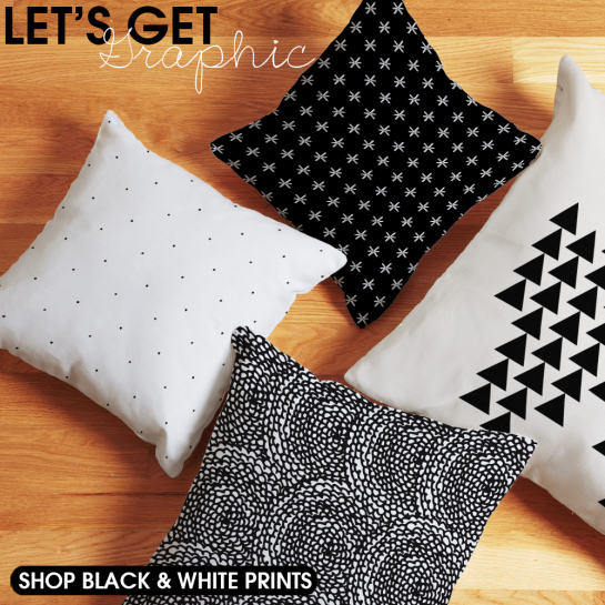Graphic Black and White Decor