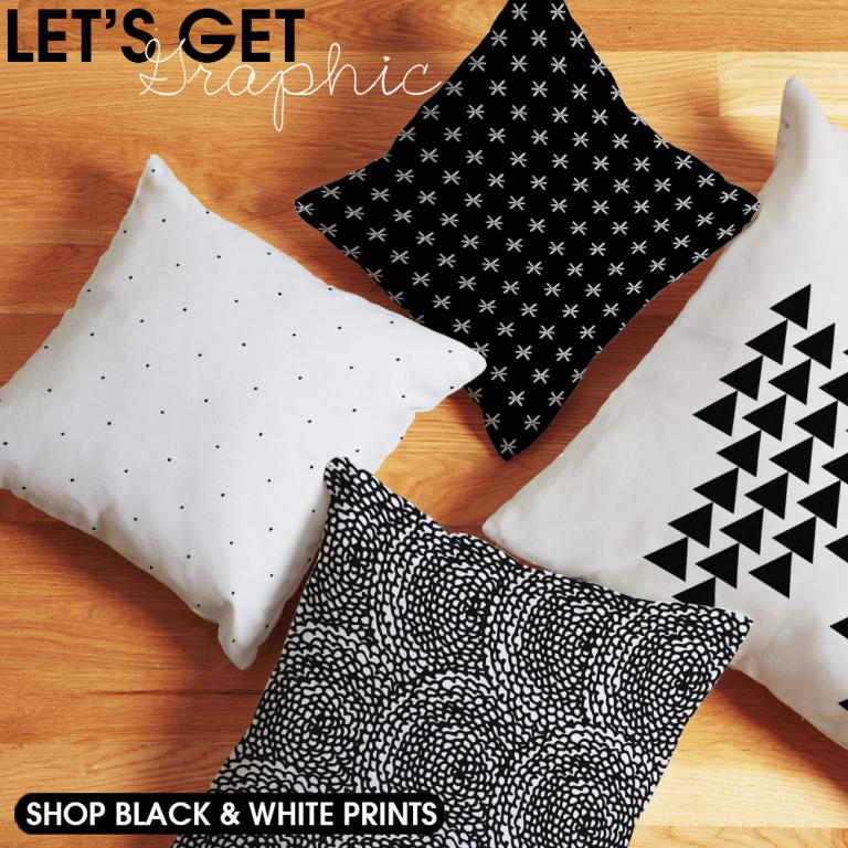 Graphic Black and White Decor