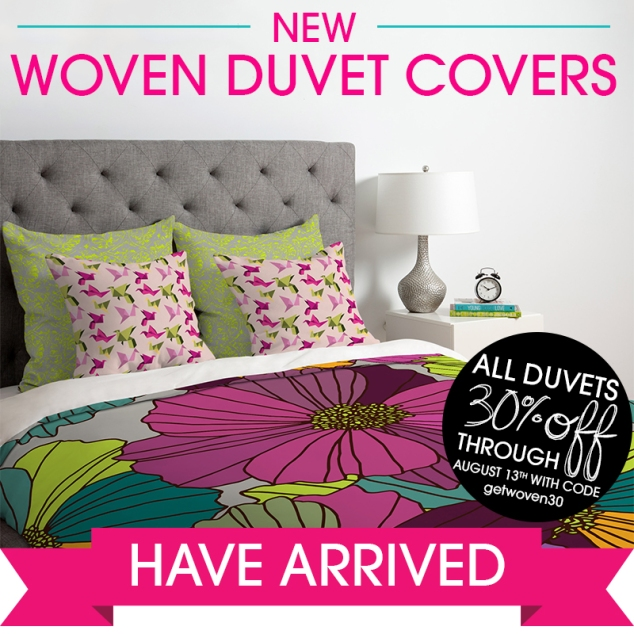 Woven Duvet Covers Have Arrived