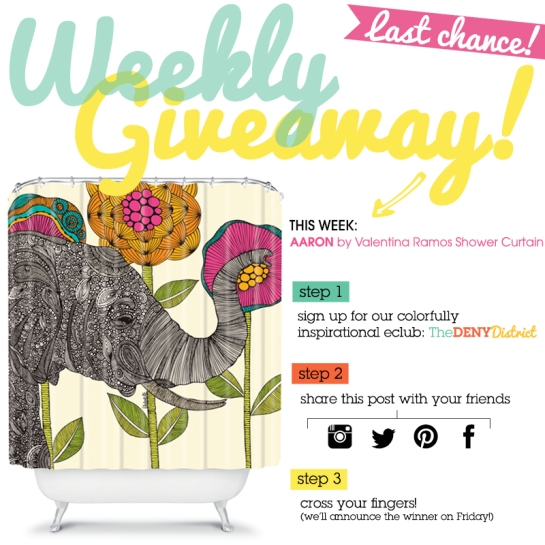 Last Chance! Weekly Giveaway!