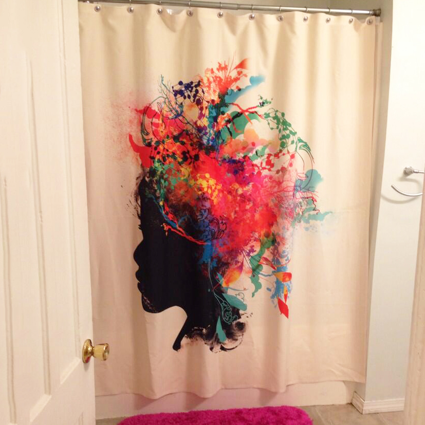 loving this colorfully unique shower curtain deny designs