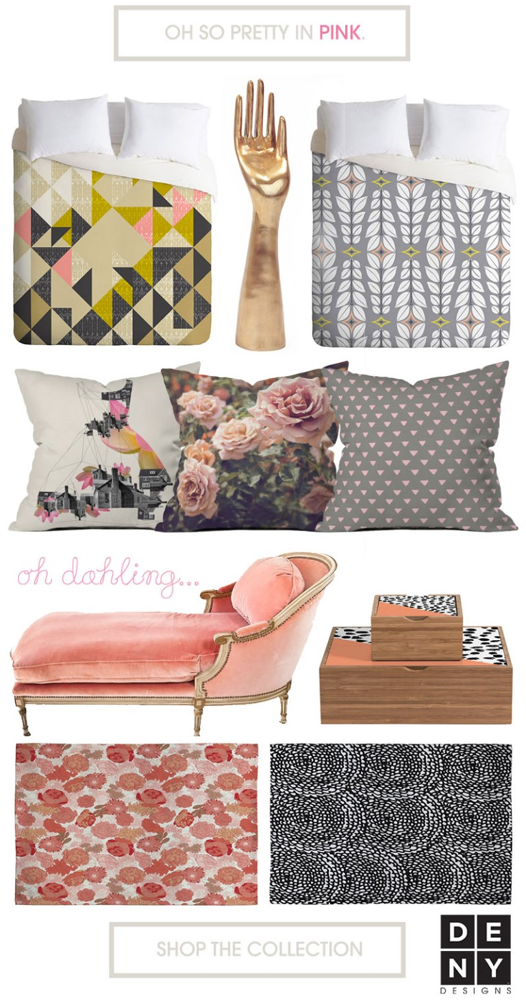Oh so pretty in pink home decor from DENY!