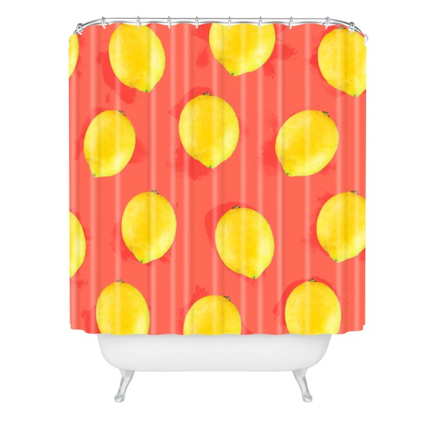 jacqueline-maldonado-watercolor-lemons-shower-curtain-claw-tub