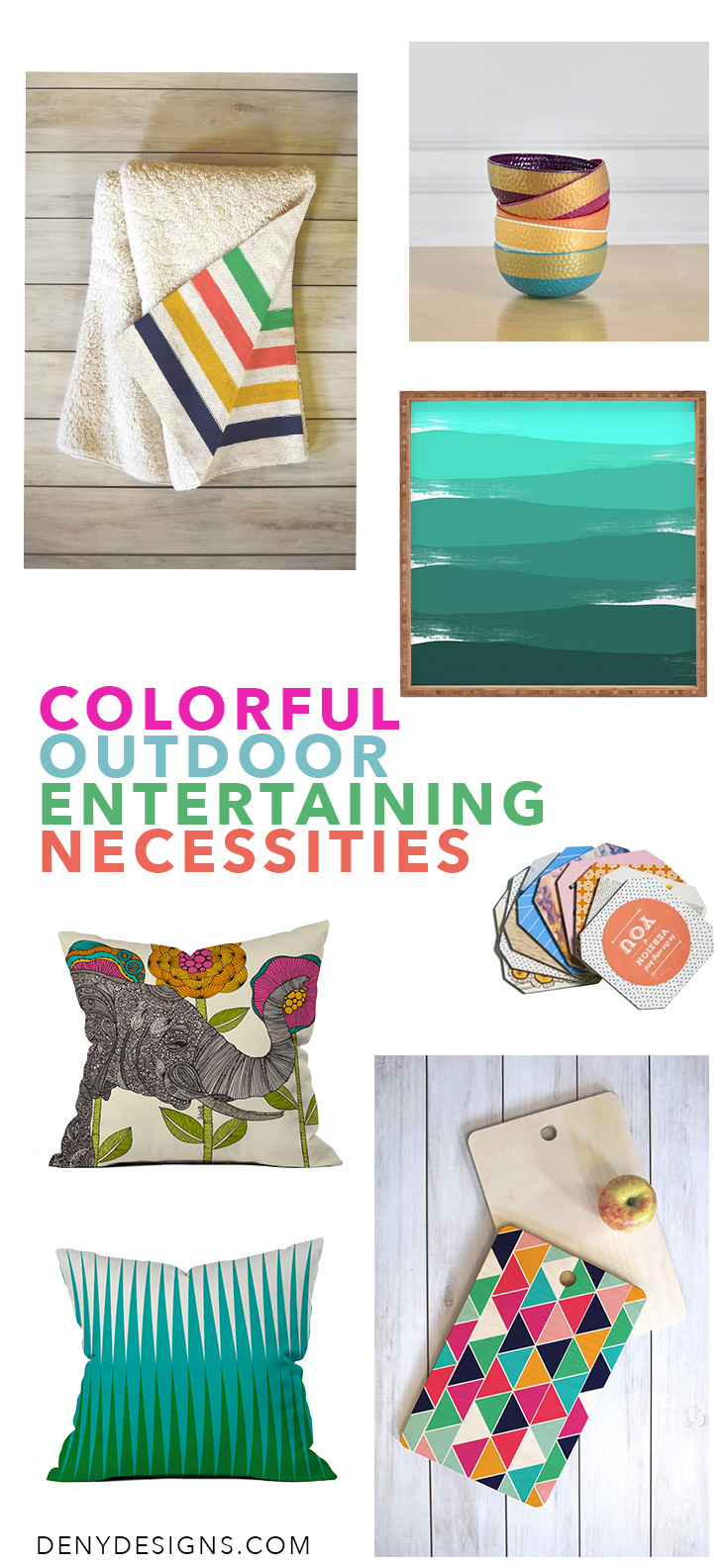 Colorful Outdoor Entertaining Necessities