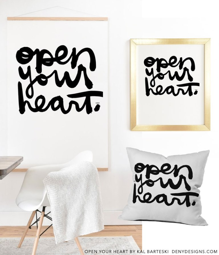 Open Your Heart By Kal Barteski DENY Designs Home Accessories